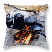 Classic Camp Cooking Throw Pillow