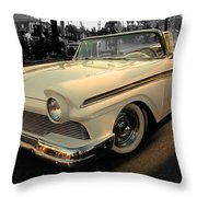 Classic Car Cheve Throw Pillow