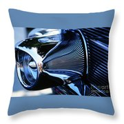 Classic Car Chrome Abstract Reflected Grill Throw Pillow