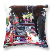 Classic Car Decor Day Of The Dead  Throw Pillow