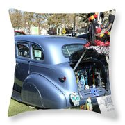 Classic Car Decorations Day Dead  Throw Pillow