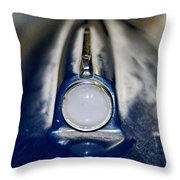 Classic Car Fender And Light Throw Pillow