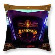 Classic Car Hood Ramones  Throw Pillow
