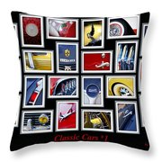Classic Car Montage Art 1 Throw Pillow