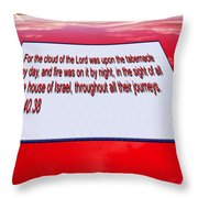 Classic Car With Text Throw Pillow