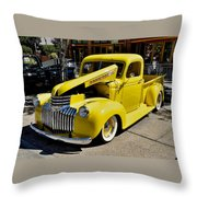 Classic Chevy Pickup Throw Pillow