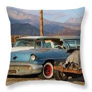 Classic Chevy True Blue Throw Pillow