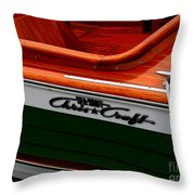 Classic Chris Craft Sea Skiff Throw Pillow