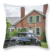 Classic Chrysler 1940s Sedan Throw Pillow