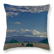 Classic Country Scene Throw Pillow