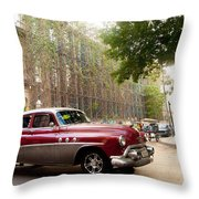 Classic Cuba Car Vii Throw Pillow