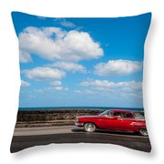 Classic Cuba Car V Throw Pillow