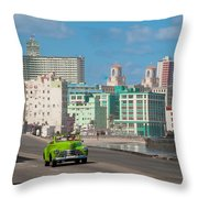 Classic Cuba Car Vi Throw Pillow