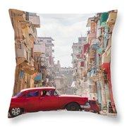 Classic Cuba Car Viii Throw Pillow