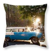 Classic Cuba Car Xii Throw Pillow