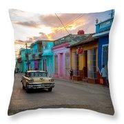 Classic Cuba Cars X1 Throw Pillow