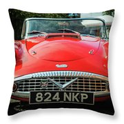 Classic Daimler Sports Car Throw Pillow by Nick Bywater