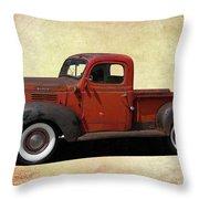 Classic Dodge Pickup Truck Throw Pillow