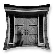 Classic Doors Throw Pillow