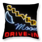 Classic Drive In Throw Pillow