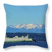 Classic Ferry Throw Pillow