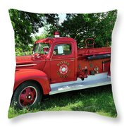 Classic Fire Truck Throw Pillow