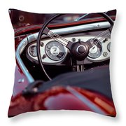 Classic Ford Convertible Interior Throw Pillow