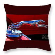 Classic Ford Greyhound Hood Ornament Throw Pillow