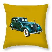 Classic Green Packard Luxury Automobile Throw Pillow