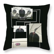 Classic Jag Throw Pillow
