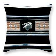 Classic Mercury Grill Emblem Throw Pillow
