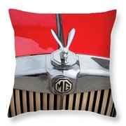 1936 Mg Ta Radiator And Mascot Throw Pillow
