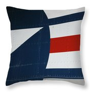 Classic Military Aircraft Abstract- Star 5 Throw Pillow