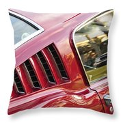Classic Mustang Fastback Throw Pillow