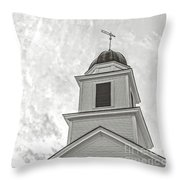 Classic New England Church Etna New Hampshire Throw Pillow