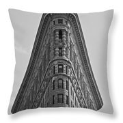 classic New York architecture Throw Pillow
