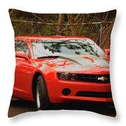 Classic Orange Throw Pillow