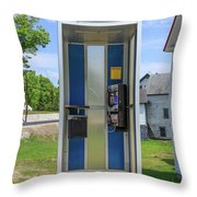 Classic Pay Phone Booth Throw Pillow