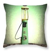 Polly Gasoline Pump And Emblem Throw Pillow