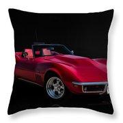 Classic Red Corvette Throw Pillow