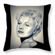 Classic Rita Hayworth Throw Pillow