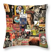 Classic Rock 2 Collage Throw Pillow