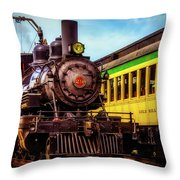 Classic Steam Train No 29 Throw Pillow