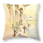 Classic Summer Morning Throw Pillow