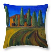 Classic Tuscan Sunset Throw Pillow