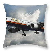 Classic Twa Boeing 757-231 Throw Pillow