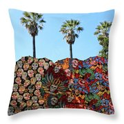 Classic Umbrellas Day Of The Dead  Throw Pillow