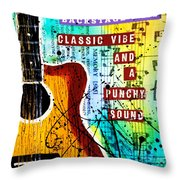 Classic Vibe Grunge Throw Pillow