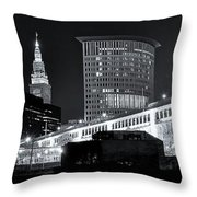 Classic View In Cle Throw Pillow