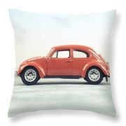 Classic Vw Bug Red Throw Pillow